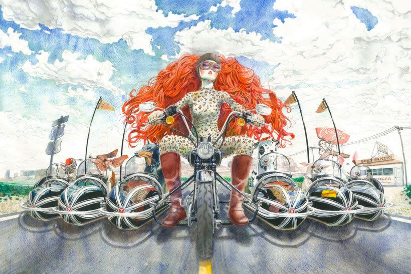 Acuarela, tinta china y digital en las ilustraciones de Jilipollo 19