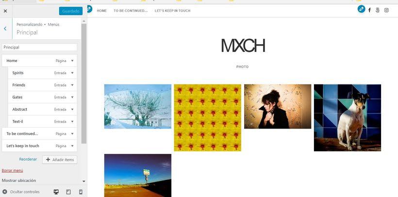 Mi web de fotógrafo, básica pero suficiente. 3
