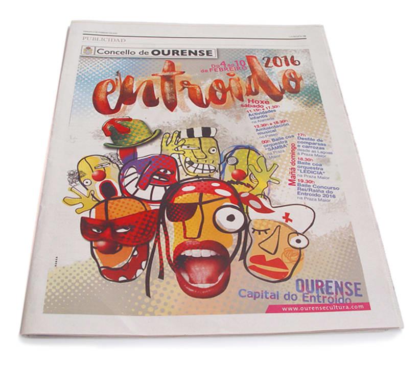 Entroido 2016 Ourense. Cartel y aplicaciones. 9