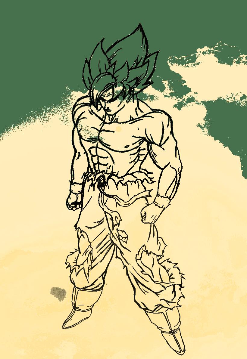 Goku Ilustración digital 0