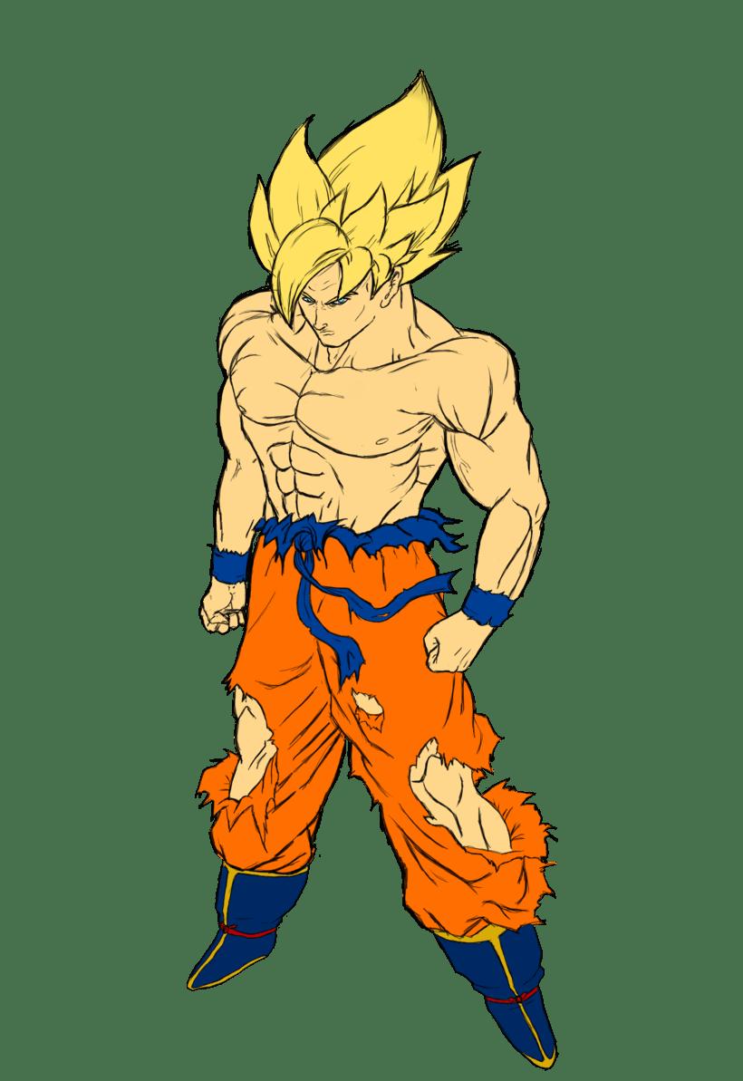 Goku Ilustración digital 1