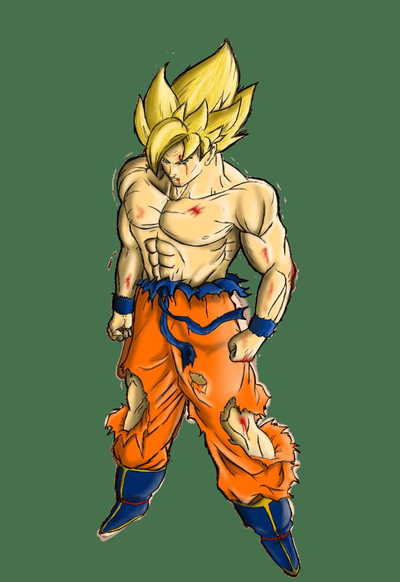 Goku Ilustración digital 2