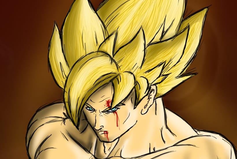 Goku Ilustración digital 4