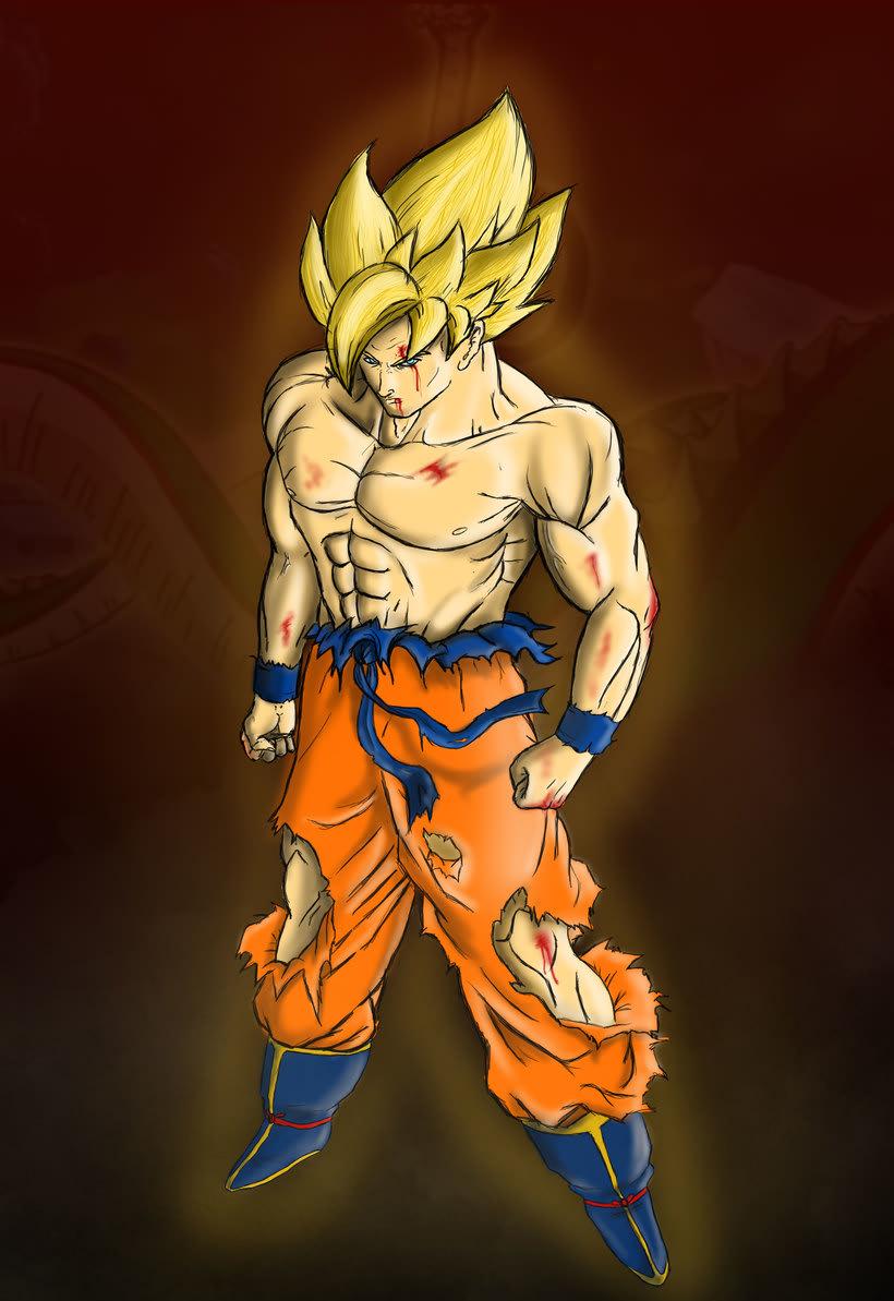 Goku Ilustración digital 3