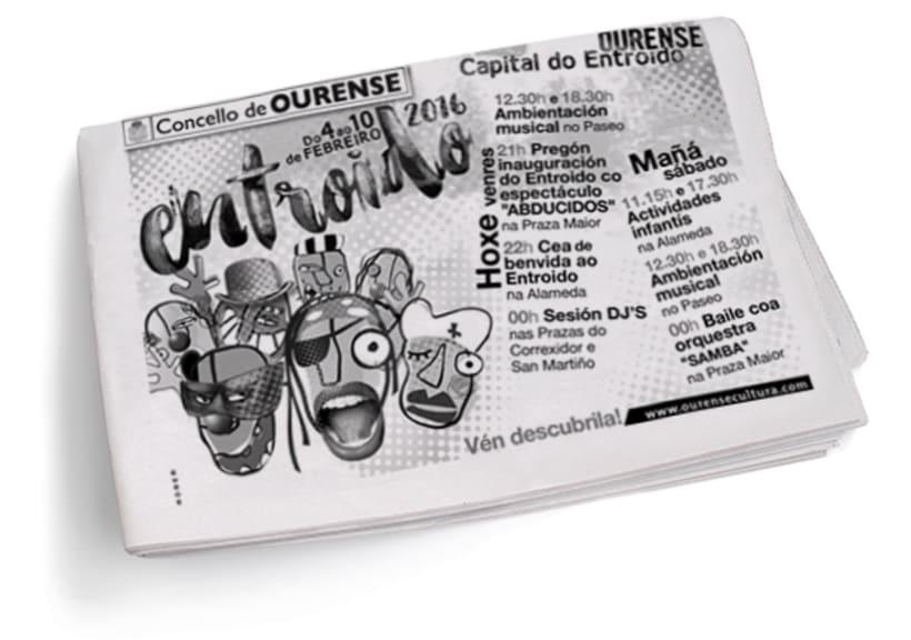 Entroido 2016 Ourense. Cartel y aplicaciones. 12