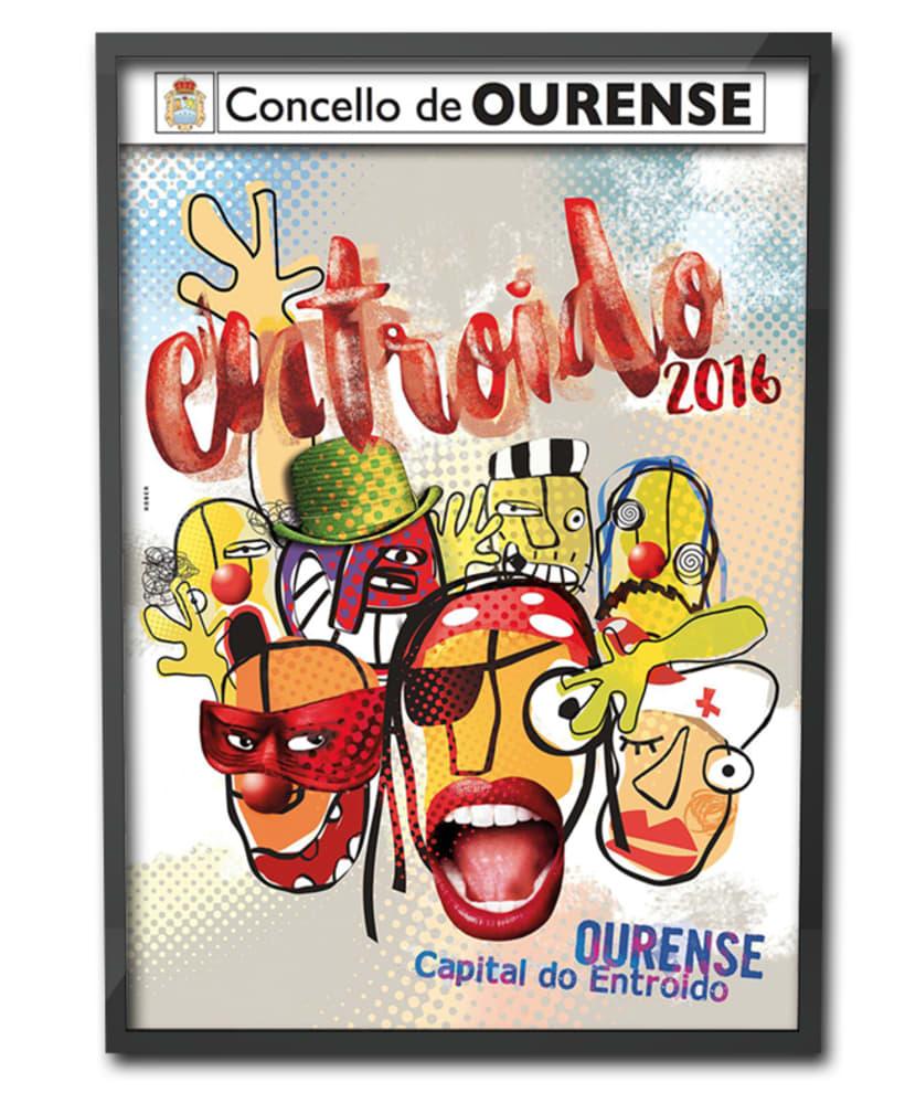 Entroido 2016 Ourense. Cartel y aplicaciones. 1