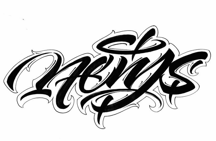 Mi Proyecto del curso: Diseño de logotipos caligráficos con la ayuda de Eksen-one 1