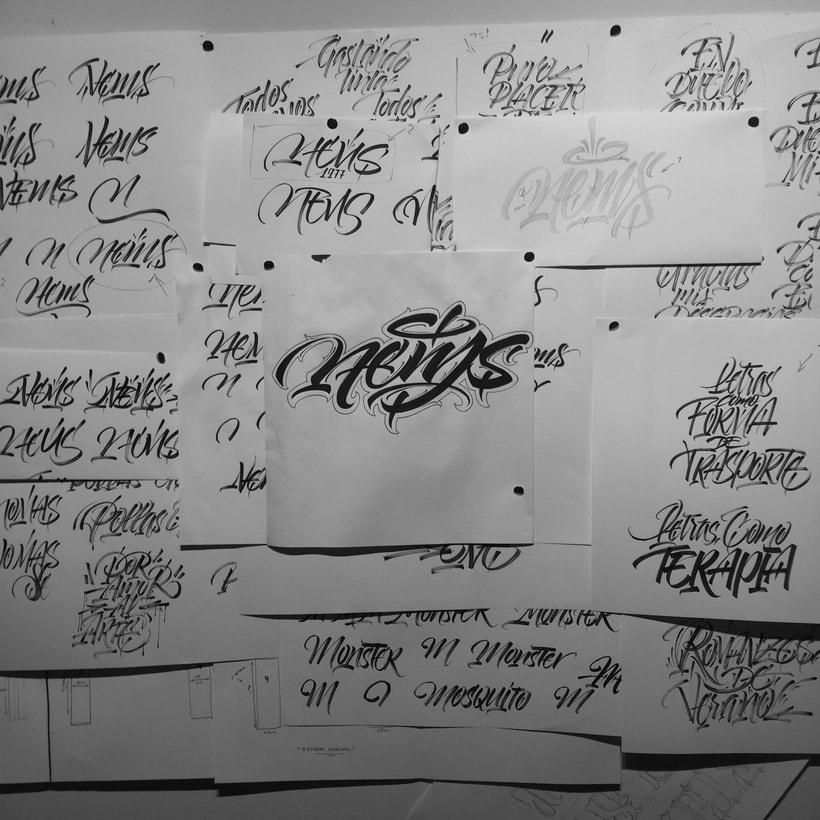 Mi Proyecto del curso: Diseño de logotipos caligráficos con la ayuda de Eksen-one 0