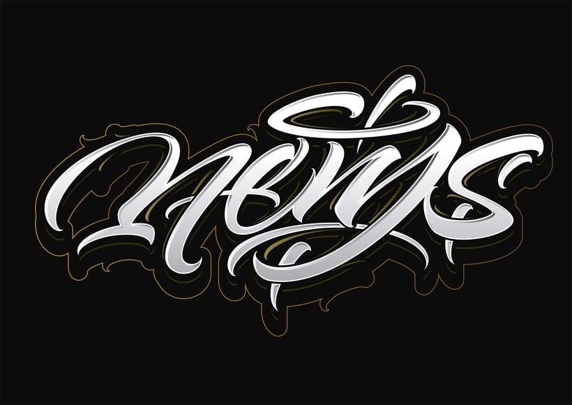 Mi Proyecto del curso: Diseño de logotipos caligráficos con la ayuda de Eksen-one 3