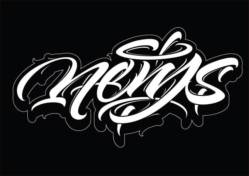 Mi Proyecto del curso: Diseño de logotipos caligráficos con la ayuda de Eksen-one 2