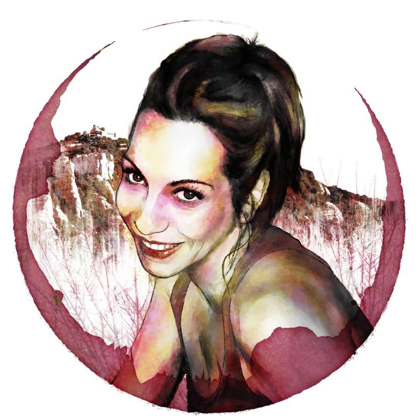 Mi amiga Carol - Retrato ilustrado con Photoshop -1