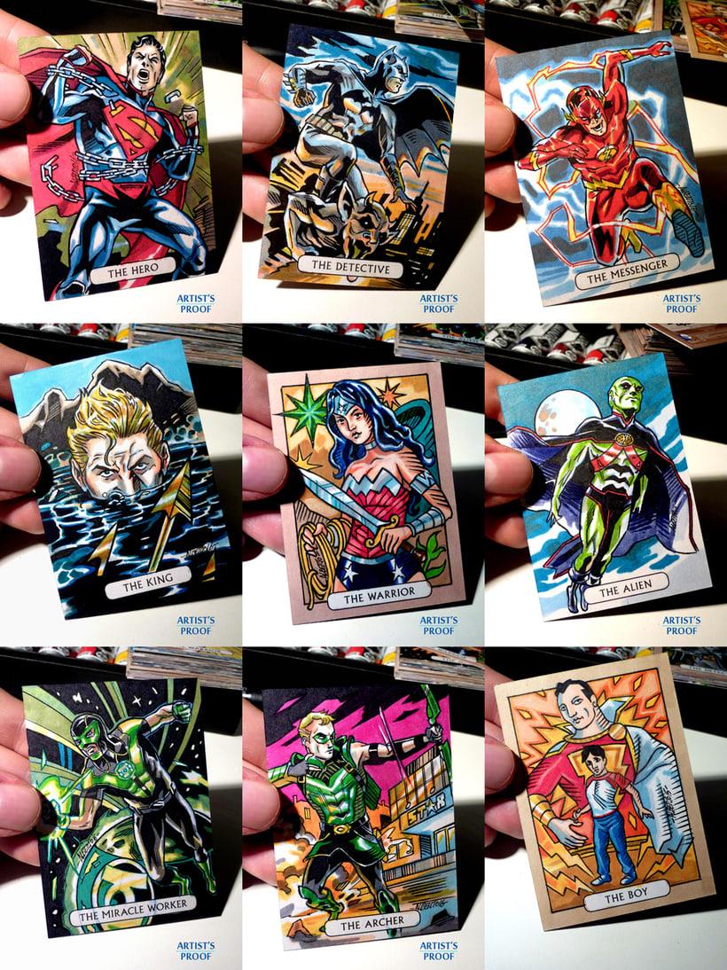 ACEO Sketchcards 'Liga de la Justicia' 2
