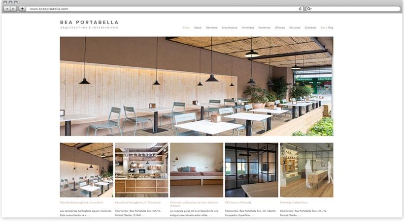 Web profesional para la arquitecta Beatriz Portabella -1