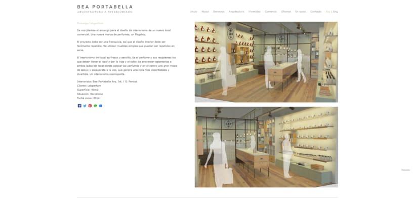 Web profesional para la arquitecta Beatriz Portabella 1