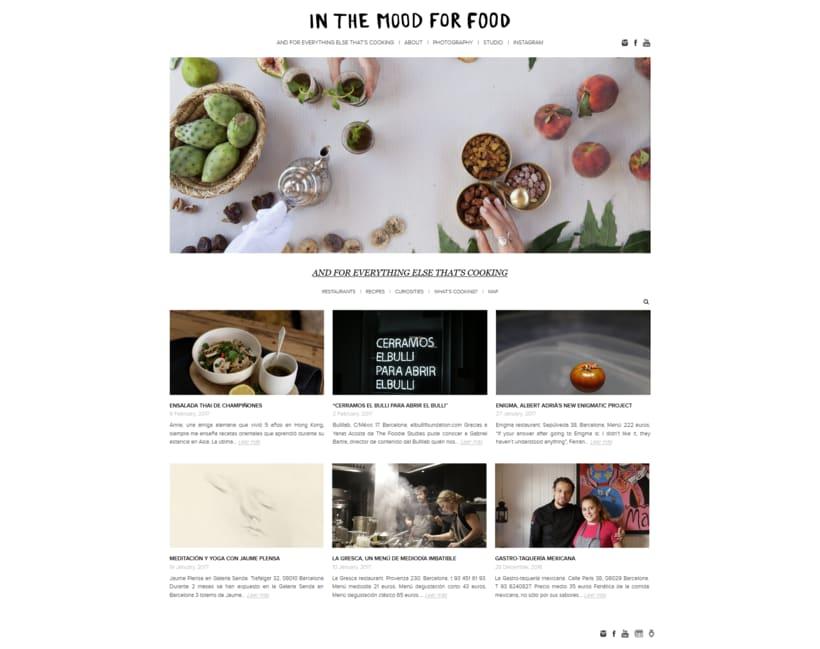 Plantilla original para el blog In the mood for food 0