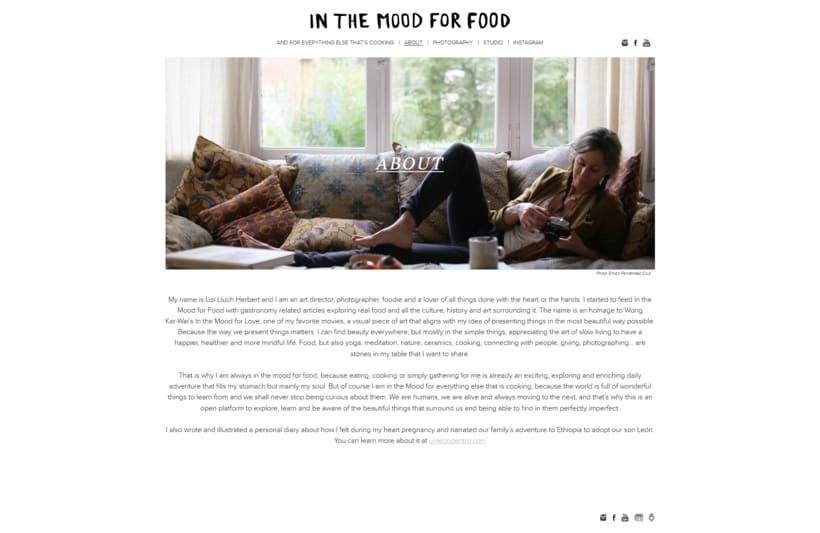 Plantilla original para el blog In the mood for food 3