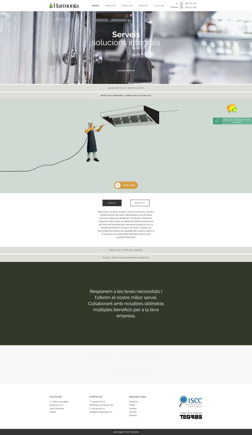 Web corporativa para Harmonia Energy 2
