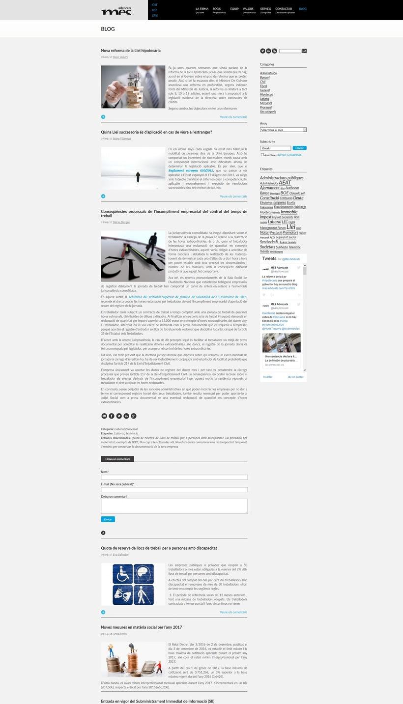 Renovación de la web corporativa de Més Advocats 0