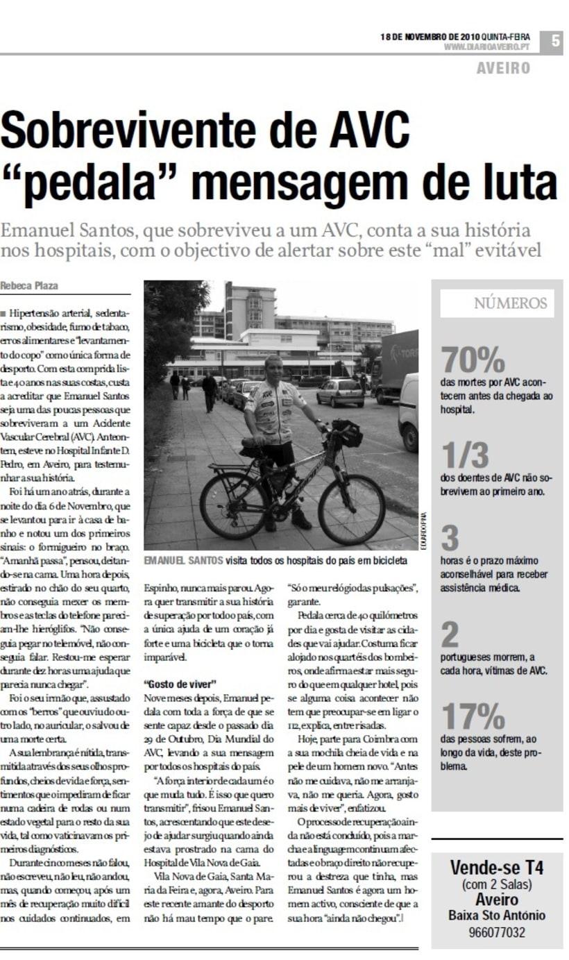 Entrevista a Manuel Santos. Diario de Aveiro. (Portugal) -1