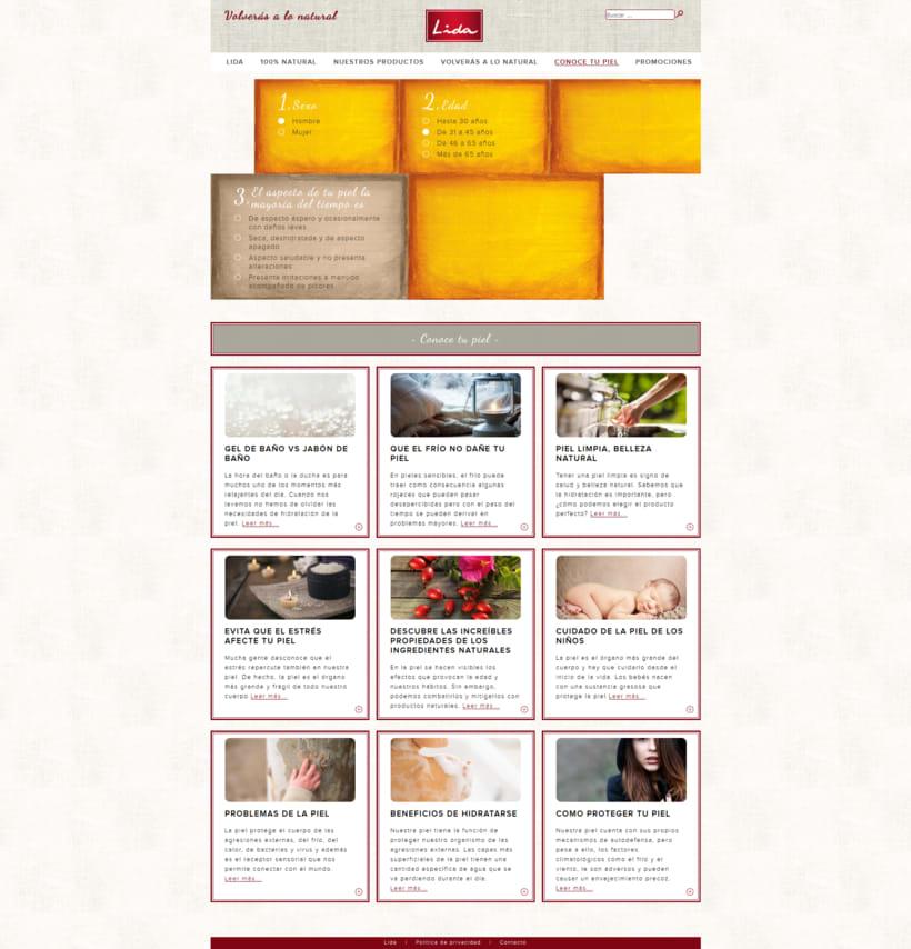 Web corporativa para Jabones Lida 3