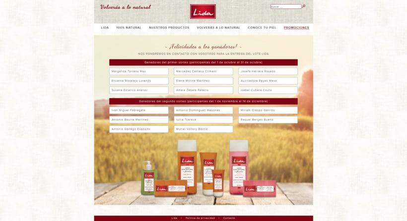 Web corporativa para Jabones Lida 4