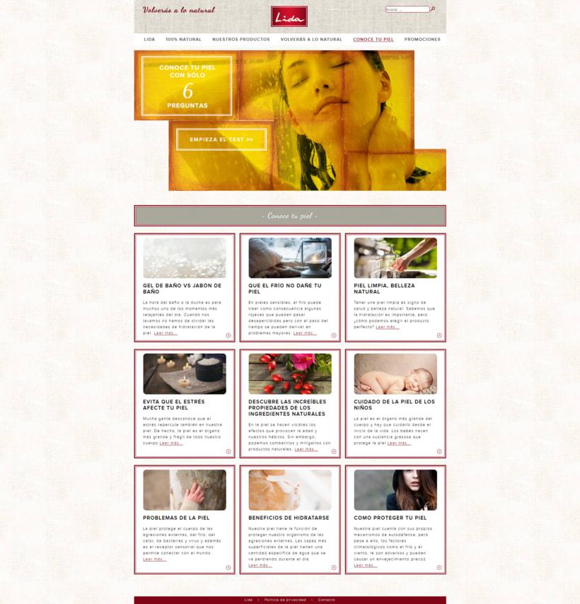 Web corporativa para Jabones Lida 2