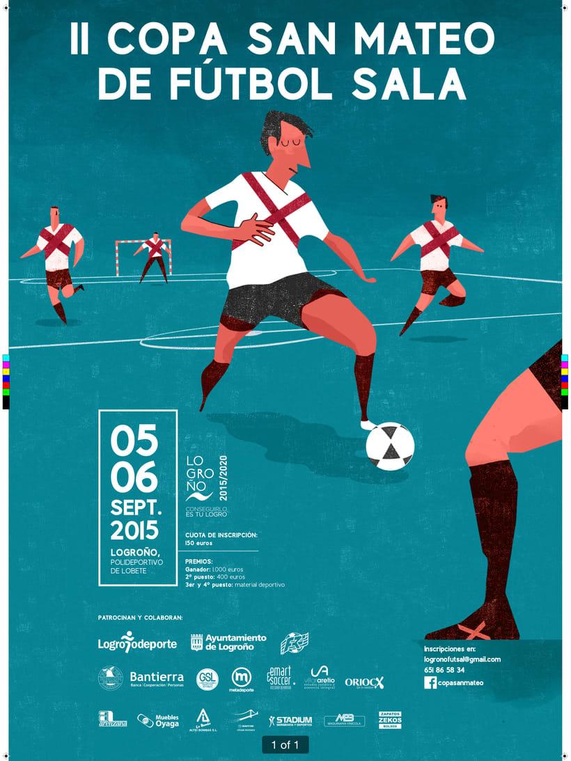 Cartel torneo de fútbol sala 0