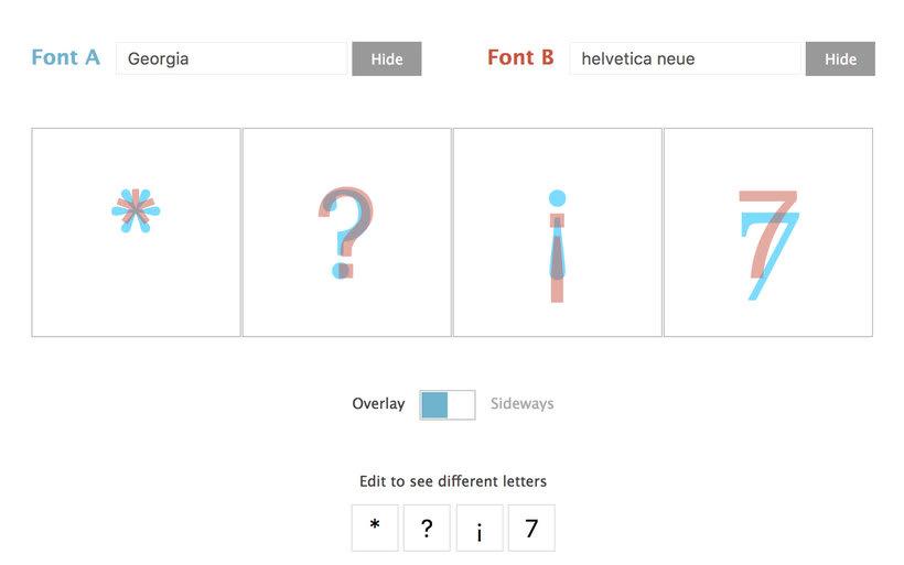Tiff, la herramienta online que permite comparar tipografías 5