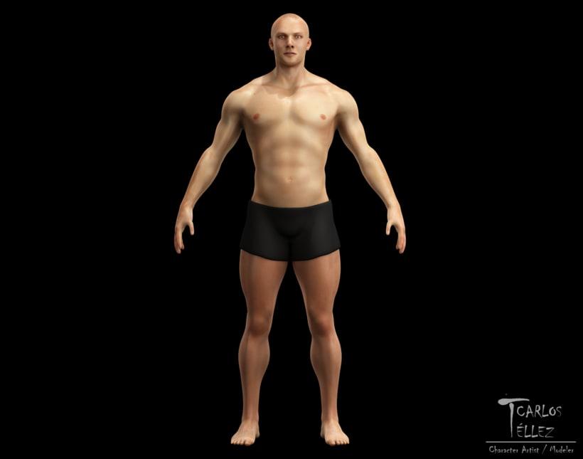 Anatomía - Hombre atlético | Domestika
