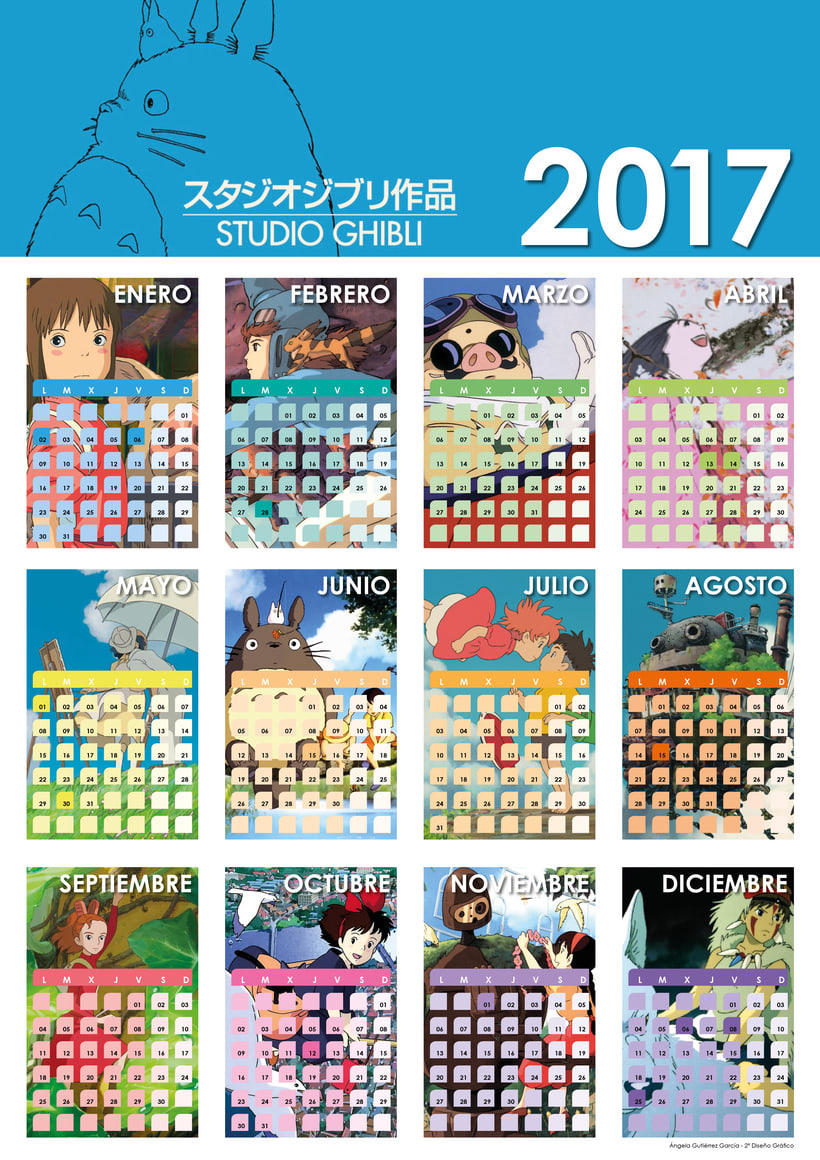 Calendario 2017 Studio Ghibli -1