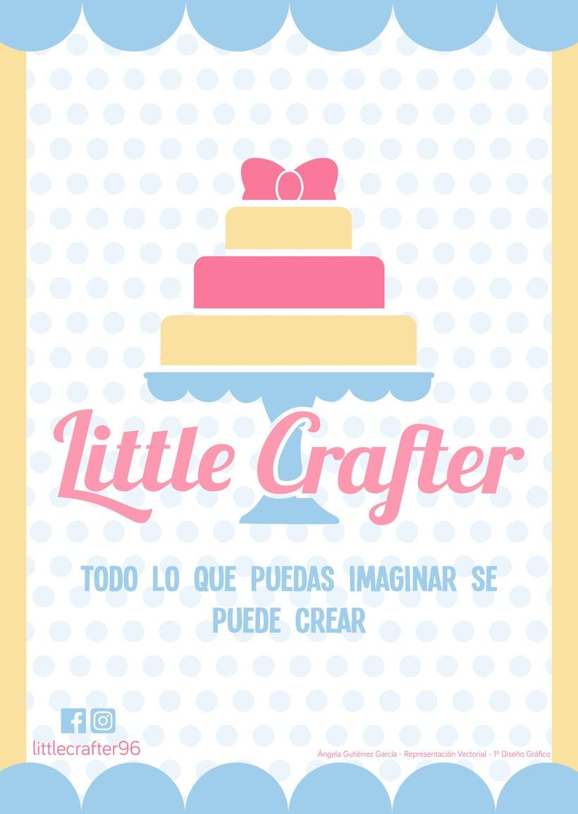 Diseño de la identidad corporativa de Little Crafter -1