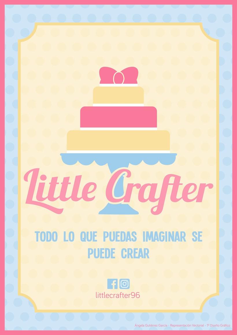 Diseño de la identidad corporativa de Little Crafter 0