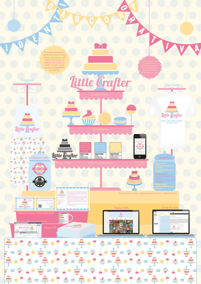 Diseño de la identidad corporativa de Little Crafter 1