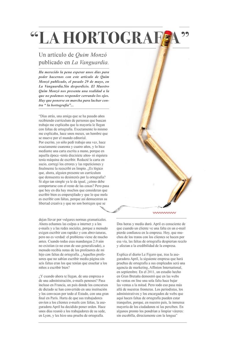 La Hortografía - Mauricio Alfaro - Ilustración editorial -1