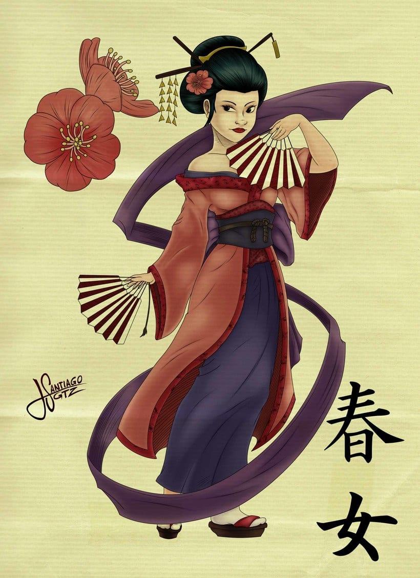 Geisha primavera -1