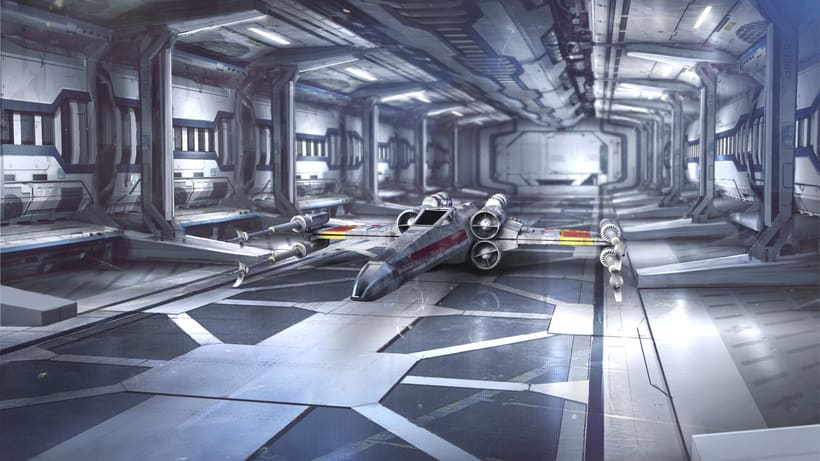 X-Wing: Modeling, texture, lighting and composition -1