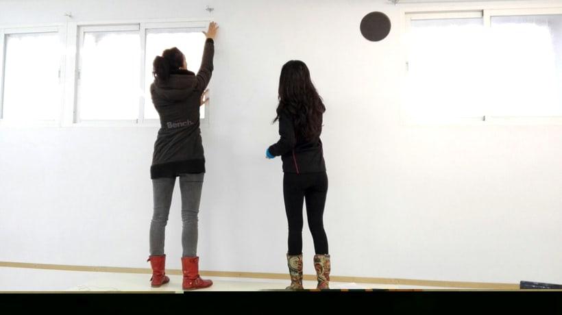 """TH, ya hemos terminado uno de nuestros proyectos de pintura mural con """"Proyecto cometa"""" en la Parroquia La Paz del distrito norte de Granada.(Painting process) 3"""