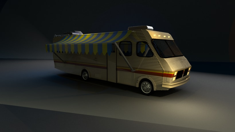 """Fleetwood Bounder """"Breaking Bad"""": Modeling and texture -1"""