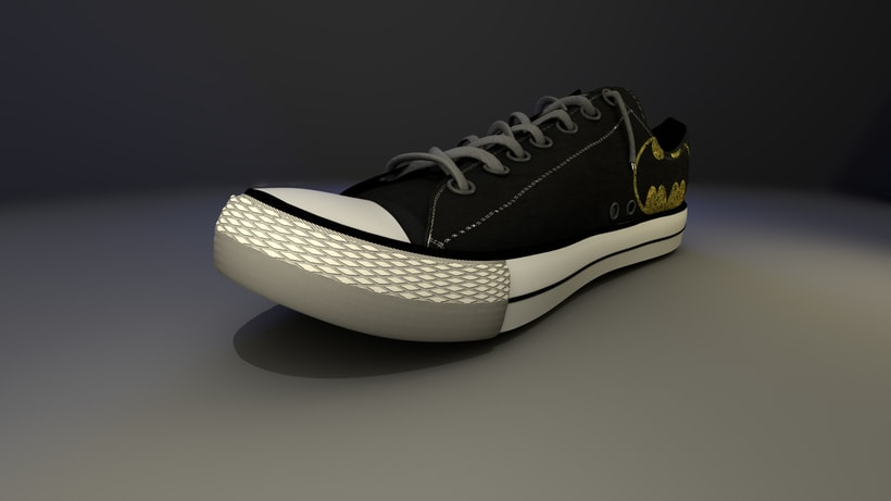 Converse Batman: Modeling and texture -1