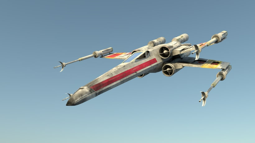 X-Wing: Modeling, texture, lighting and composition 0