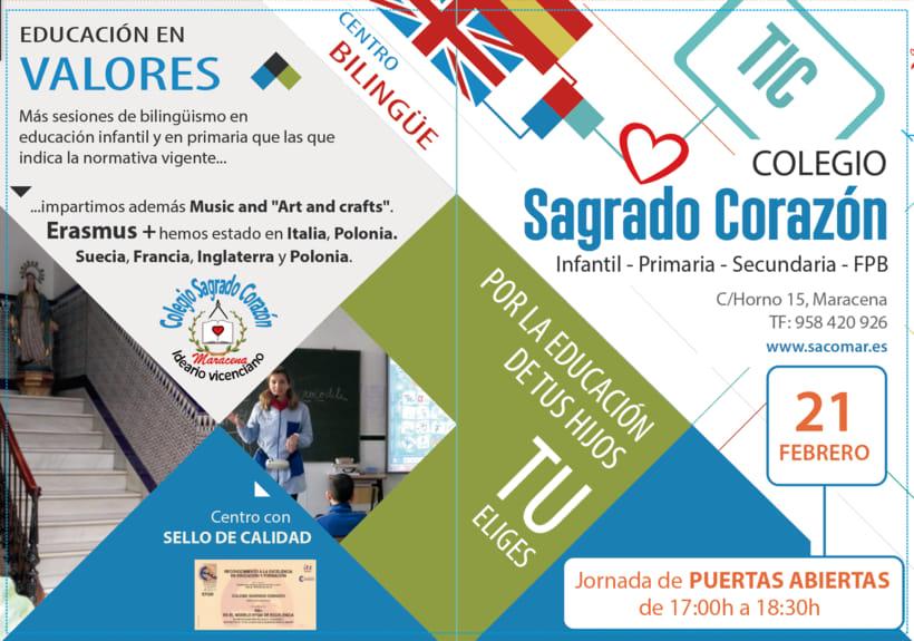 Díptico publicitario para Colegio concertado en Granada 0