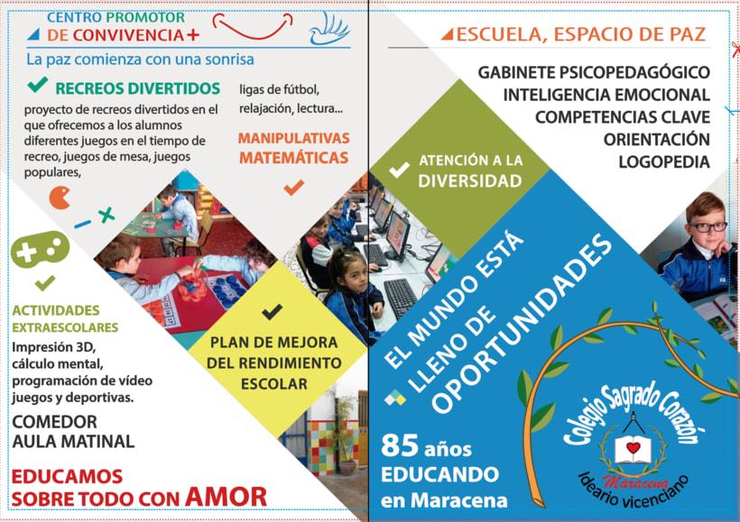 Díptico publicitario para Colegio concertado en Granada 1