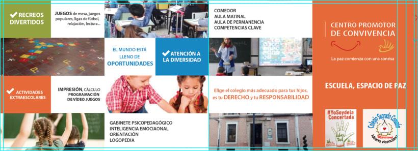 Díptico publicitario para Colegio concertado en Granada 3