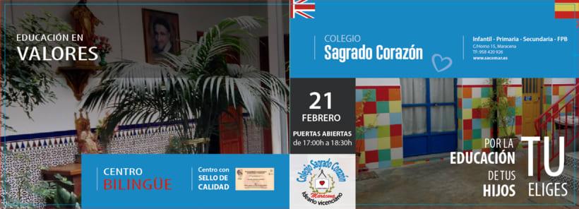 Díptico publicitario para Colegio concertado en Granada 2
