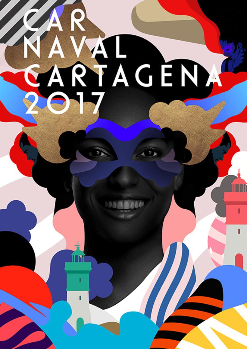 """Propuesta Cartel, """"Carnaval de Cartagena 2017"""" -1"""