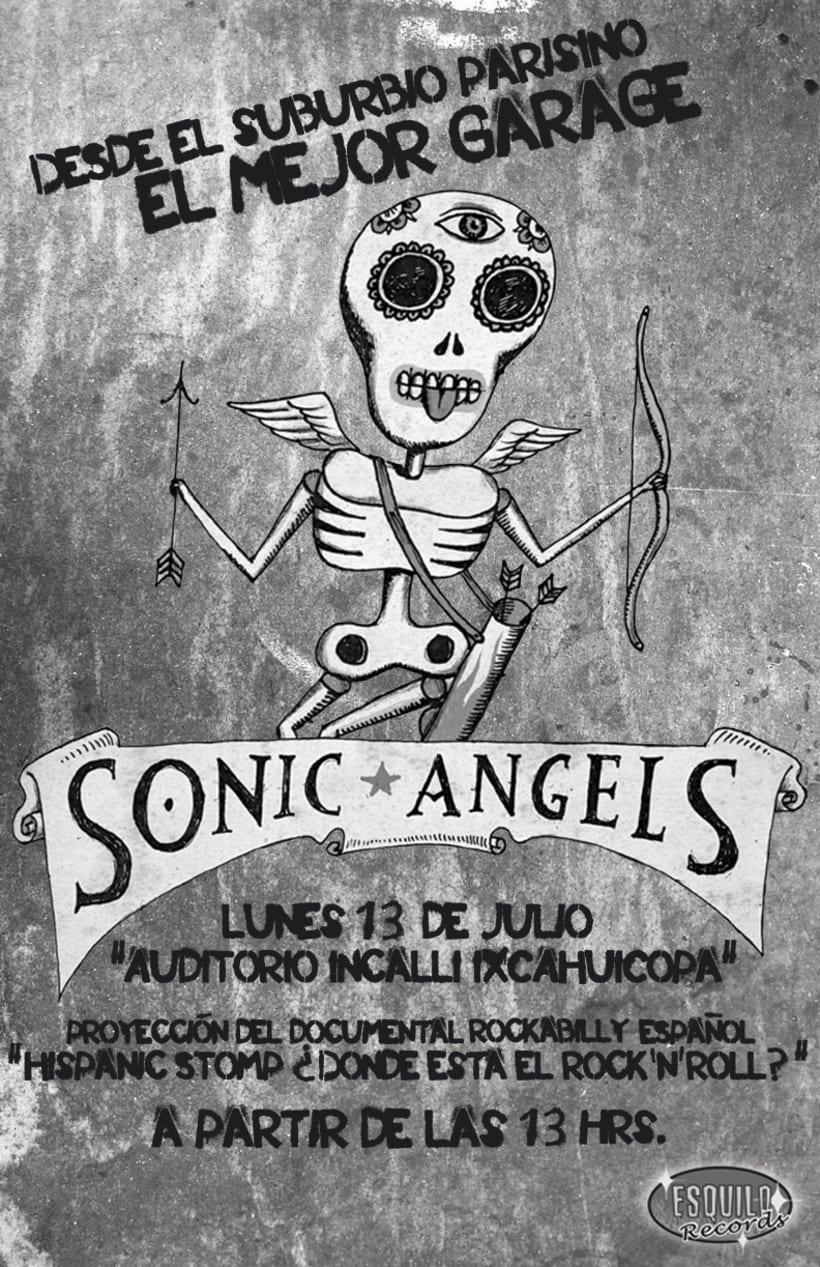"""Cartel // Sonic Angels en UAM """"Azcapotzalco"""" 0"""