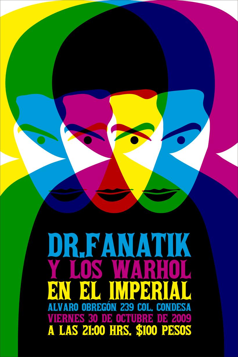 Cartel // Dr. Fanatik y Los Warhol en El Imperial -1