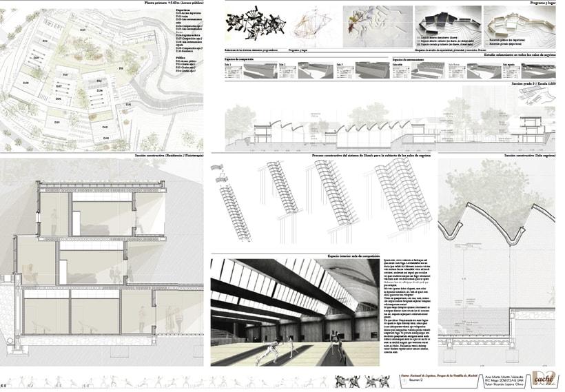 PFC Arquitectura. Centro de Alto Rendimiento para esgrima en Parque de la Ventilla, Madrid 0