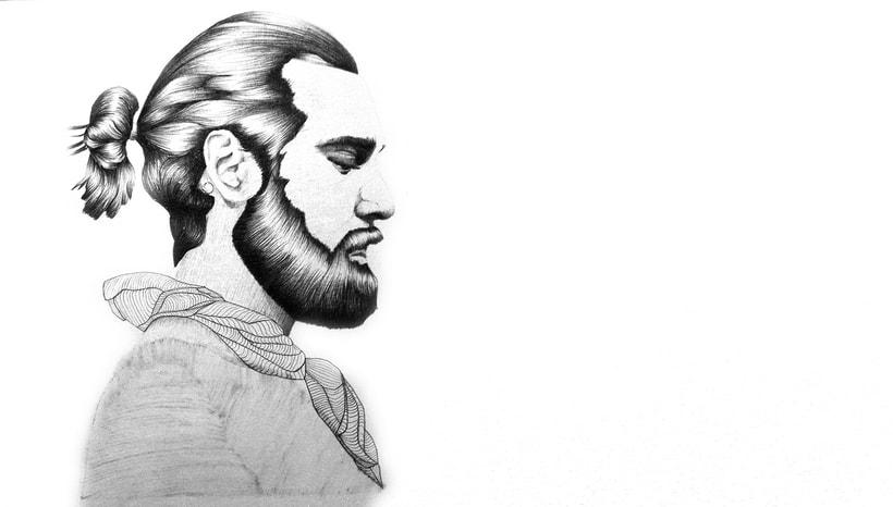 Christian Göram. Ilustración con bolígrafo Bic -1