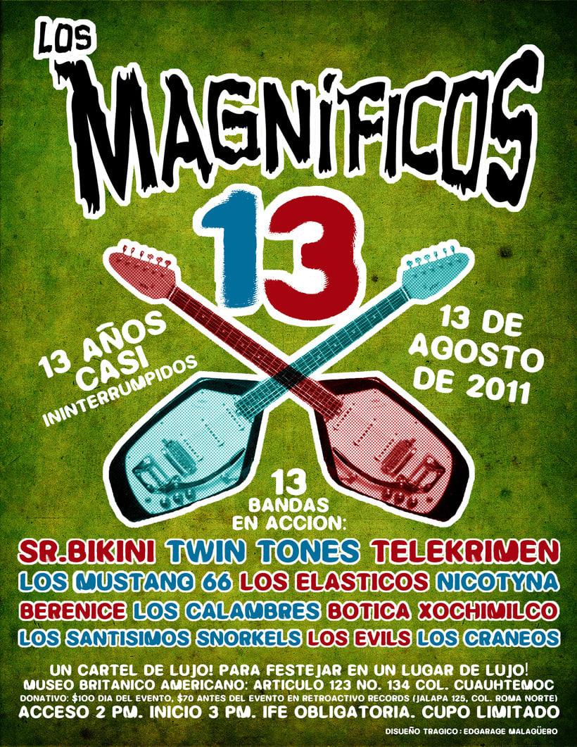 Cartel // Los Magníficos. 13 Años Casi Ininterrumpidos. 0